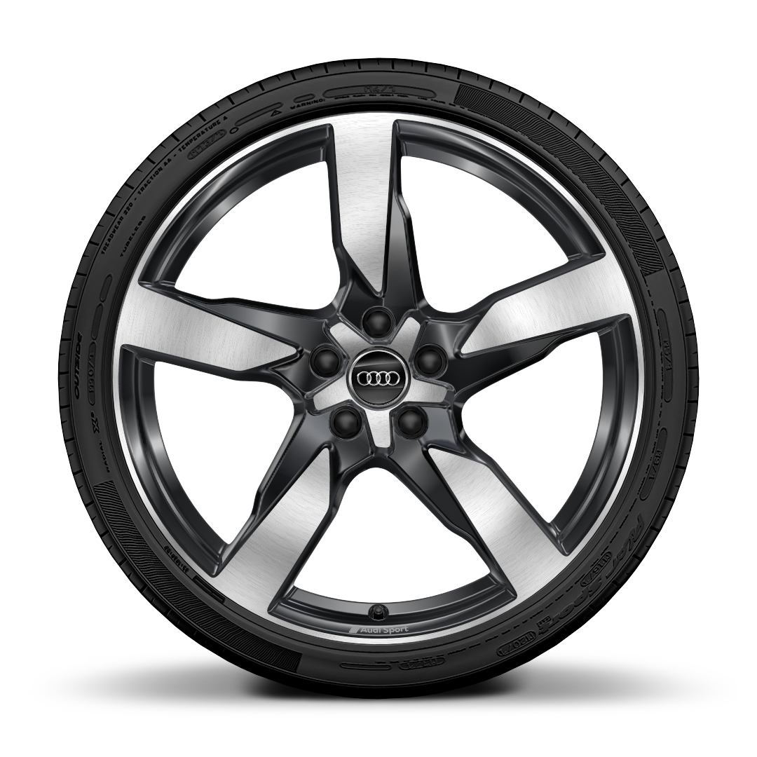 "20"" x 8.5J '5-arm' gloss anthracite alloy wheels with 255/40 R20 tyres"