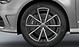 Audi exclusive cast aluminium alloy wheels, 5 V-spoke des., titanium look, size 8J x 19, with 235/35 R19 tyres