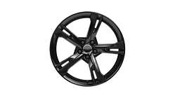 Cast aluminium winter wheel in 5-arm ramus design, black-gloss finish, 8 J x 19