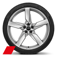 Alloy wheels, 5-arm polygon style, 8.5J x 21, 255/40 R21 tires, Audi Sport GmbH