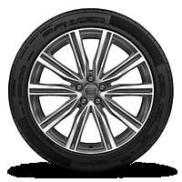 """21"""" 10-V-spoke S design bi-color finish wheels"""