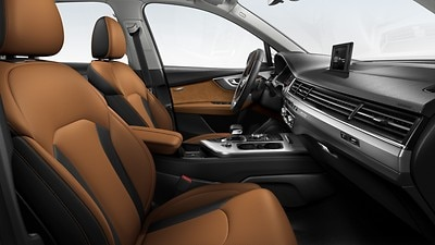Audi exclusive design : brun cognac / noir