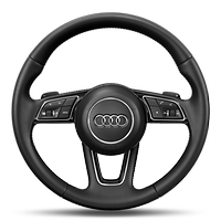 Sport leather steering wheel with multifunction plus and shift paddles