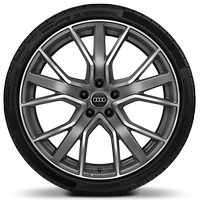 "20"" Audi Sport wheels in 5-V-spoke star design, matt titanium look with 265/30 tyres"