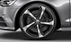Audi Sport cast aluminium alloy wheels, 5-spoke blade design, gloss black, size 9J x 21, with 265/30 R 21 tyres