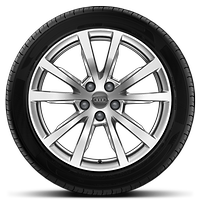 Alloy wheels, 5-spoke V-style, 8.0J x 18, 235/55 R18 tires