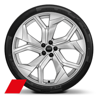 "23"" x 10.5J '5-Y-spoke rotor' design Audi Sport alloy wheels in galvano silver with 295/35 R23 tyres"