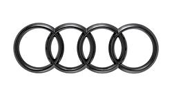 Audi Ringe Front schwarz