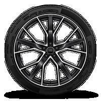 "22"" Audi Sport® 5-V-spoke-star design, black finish wheels"
