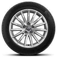 Cast alloy wheels, multi-spoke style, 7.5J x 17 with 225/55 R17 tires