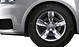 Cast aluminium alloy wheels, 5-arm design, contrast. grey, partly size 6J x 15, 185/60 R15 tyres