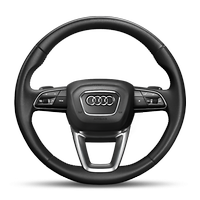 3-spoke leather multifunction steering wheel with shift paddles