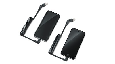 USB Cables - Lightning® & Type C USB angled head cables