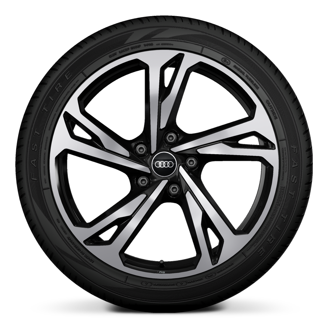 "20"" alloy wheels 5-twin-spoke offset des ign in gloss black"