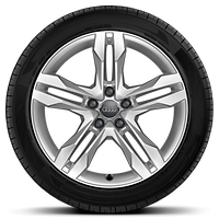 Cast alloy wheels, 5-double-spoke dynamic style, 7.5J x 18 with 245/45 R18 tires