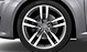 "19"" alloy wheels in 5-arm star design, contrasting grey, partly polished, with 245/35 tyres"