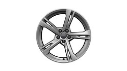 Cast aluminium winter wheel in 5-arm ramus design, brilliant silver, 8.5 J x 19