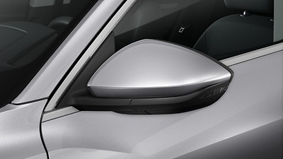 Exterior mirror housings painted in body color