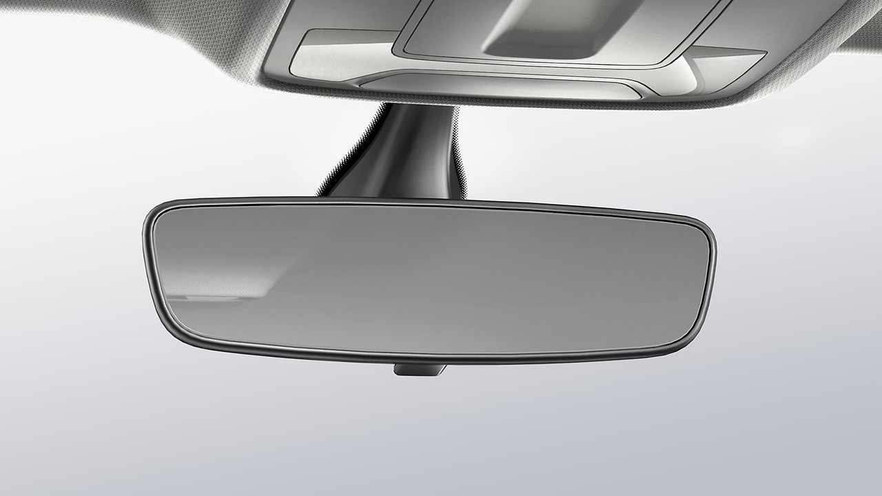 Interior rear-view mirror with manual dipping function