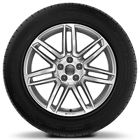 Audi Sport cast alloy wheels, 7-double- spoke style, 8.5J x 19 with 255/55 R19 tires