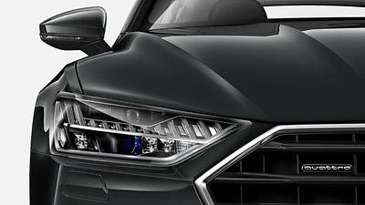 HD Matrix LED headlamps with Audi laser light,LED rear combination lamps and headlamp washer system