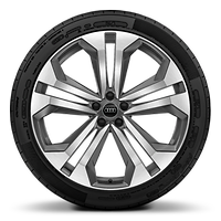 Alloy wheels, 5-double-arm style, Graphite Gray, diamond-turned, 10.0J x 22, 285/40 R22 tires