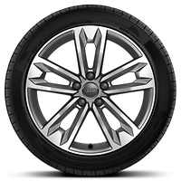Cast alloy wheels, 5-spoke V-style, 7.5J x 18 with 245/45 R18 tires