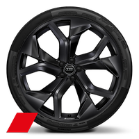 "23"" x 10.5J '5-Y-spoke rotor' design Audi Sport alloy wheels in gloss black with 295/35 R23 tyres"