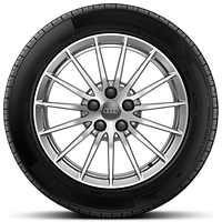Forged alloy wheels, 15-spoke style, 7.5J x 17 with 225/50 R17 tires