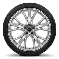 Audi Sport cast alloy wheels, 5-spoke V-style, 8.5J x 21 with 255/35 R21 tires