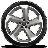 Audi Sport 5輻渦輪造型,20英寸鋁合金輪輞,鎂金屬外觀, 輪胎265/40 R20