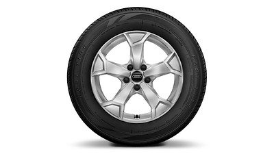 "Alloy wheels, 5-arm ""Secare"" style, 6.5J x 17, 215/65 R17 snow tires"