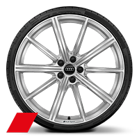 Cast alloy wheels, 10-spoke star style, 10.5J x 21, 275/35 R21 tires