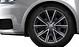 Cast aluminium alloy wheels, 5-spoke V design, contrast. grey, part. polished, size 7.5J x 17, with 215/40 R17 tyres