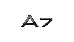 """Modellbezeichnung Heck schwarz, """"A7"""""""