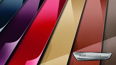 Decorative inserts, color painted, Audi exclusive