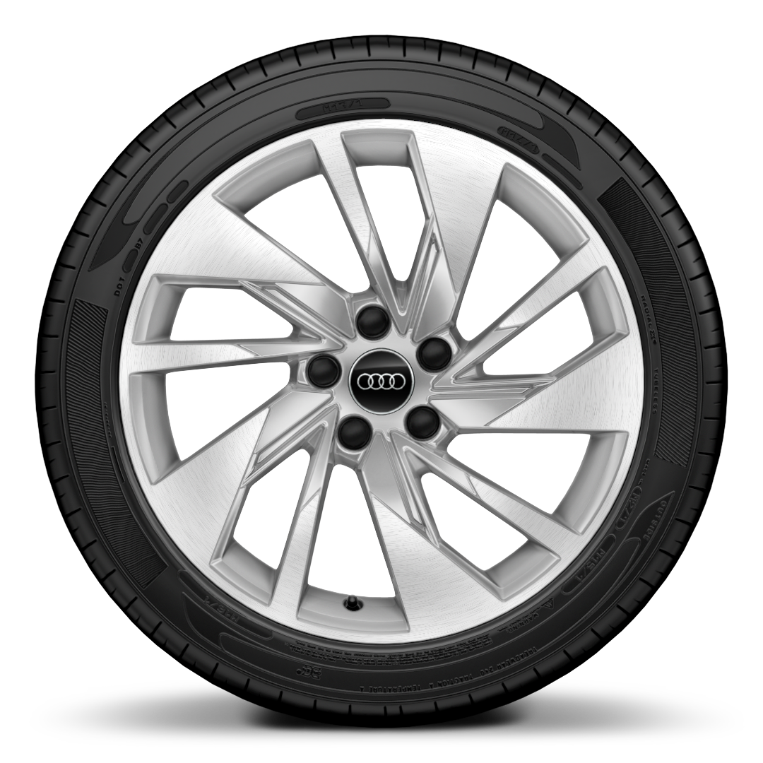 "18"" x 8.0J '5-spoke V-Style' diamond cut alloy wheels with 225/40 R18 tyres"