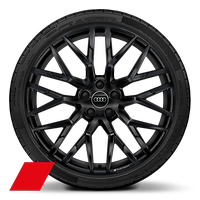 Alloy wheel 8.5J+11J x 20, 10-spoke Y-style, Anthracite Black with 245/30 + 305/30 R20 tire