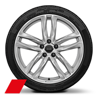 "19"" x 9J '5-double spoke' style Audi sport wheel with 245/35 R19 tyres"