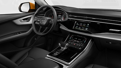 Extended interior elements in leather
