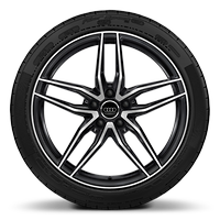 Alloy wh. 8.5J+11Jx19, 5-doub.-spoke style, Anthracite Black, diamond-turned with 245/35 + 295/35 R19 tires