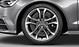 Cast aluminium alloy wheels, 5 parallel-spoke design (S design), size 8.5J x 19