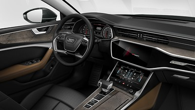 Upper and lower interior elements in leather, Audi exclusive