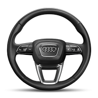 3-spoke leather multifunction heated steering wheel