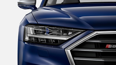 HD Matrix LED headlamps with Audi laser light and OLED rear combination lamps and headlamp washer system
