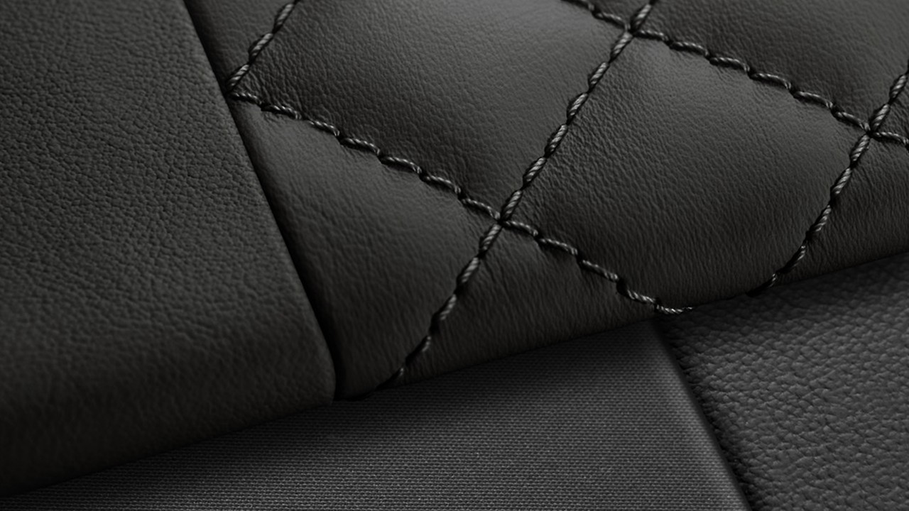 Fine Nappa leather seats with contrast honeycomb stitching and RS embossed logo