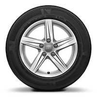 "16"" '5-spoke star' design alloy wheels  with 7.0J 205/55 R16 tyres"