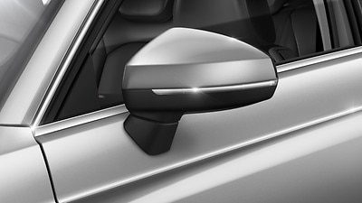 Exterior mirrors with electric adjustment and integrated LED indicators