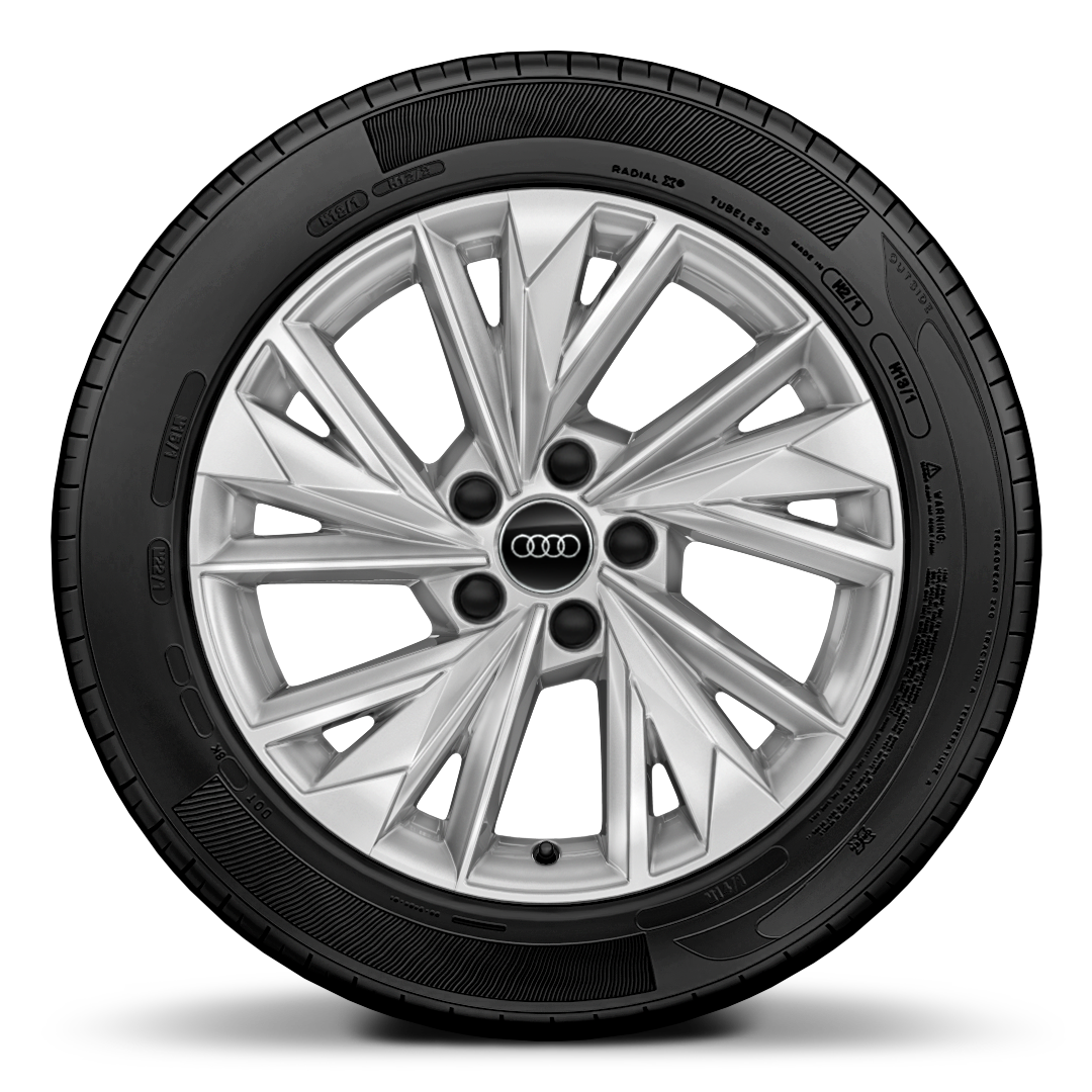 "17"" x 8.0J '5-spoke W -style' alloy wheel with 225/45 R17 tyres"