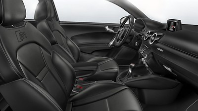 Front Sports seats with lumbar support